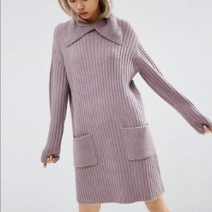 ASOS lavender sweater dress
